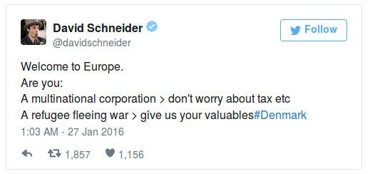 David Schneider tweet