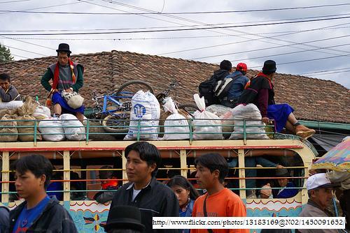Imágen de una Chiva en Silvia, Cauca